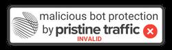 PristineTraffic Trustmark Invalid white